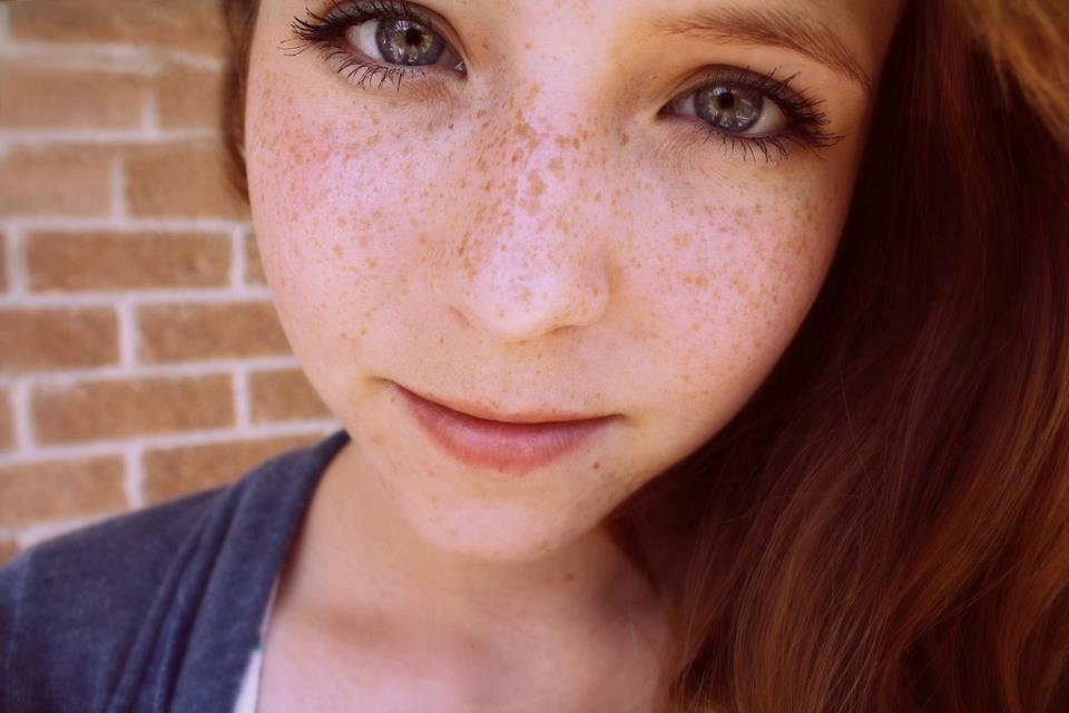 Beautiful Freckled Redhead Closeup - Redhead Next Door