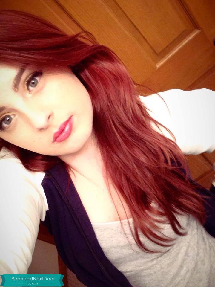 girl Hot selfie redhead