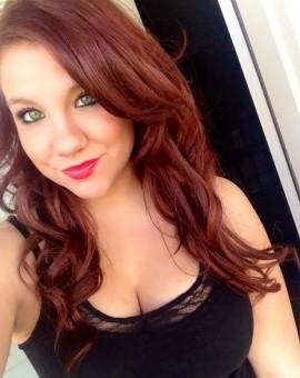 green eyed redhead beauty