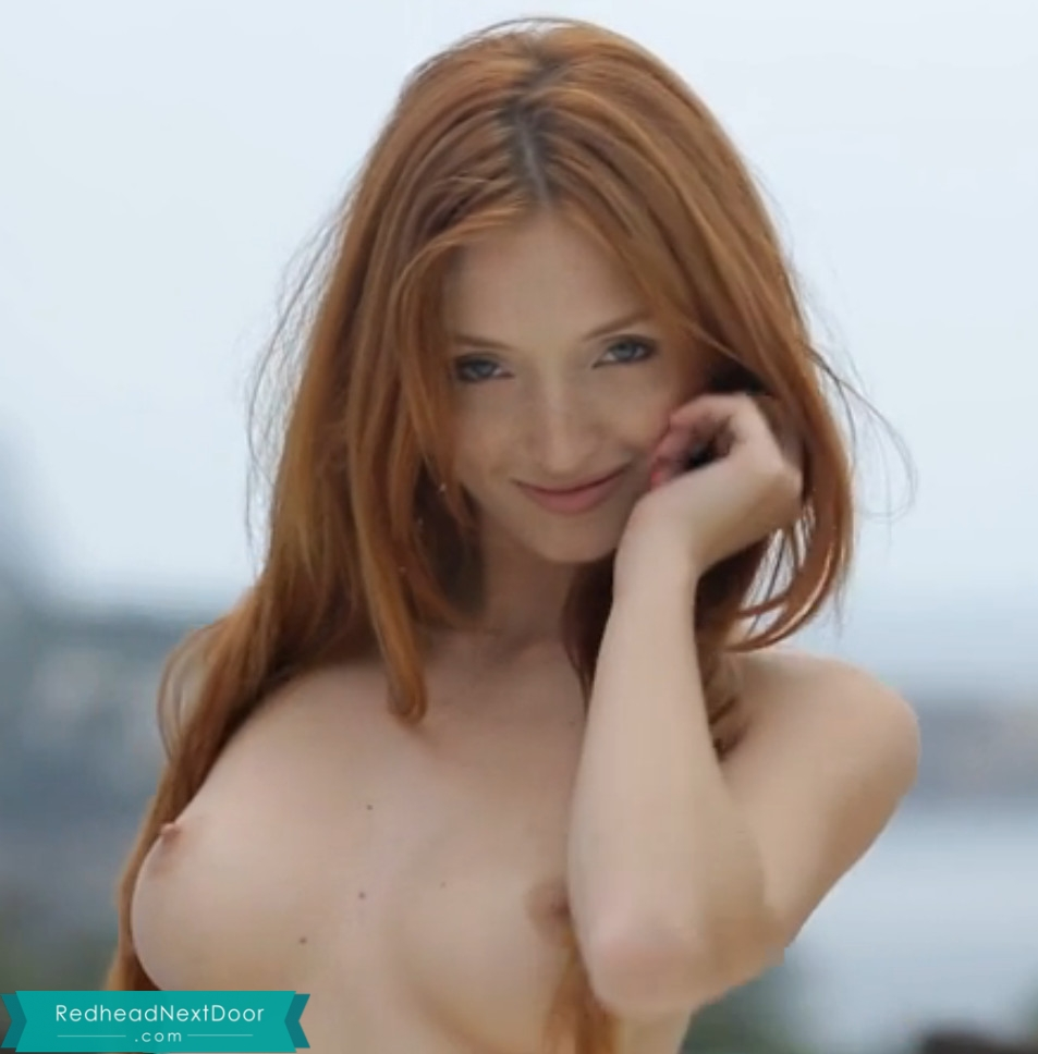 Redhead next door party could