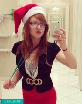 holiday ginger selfie