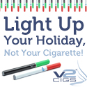 V2 Cigs electronic cigarettes - Light Up Your Holiday, Not Your Cigarette!