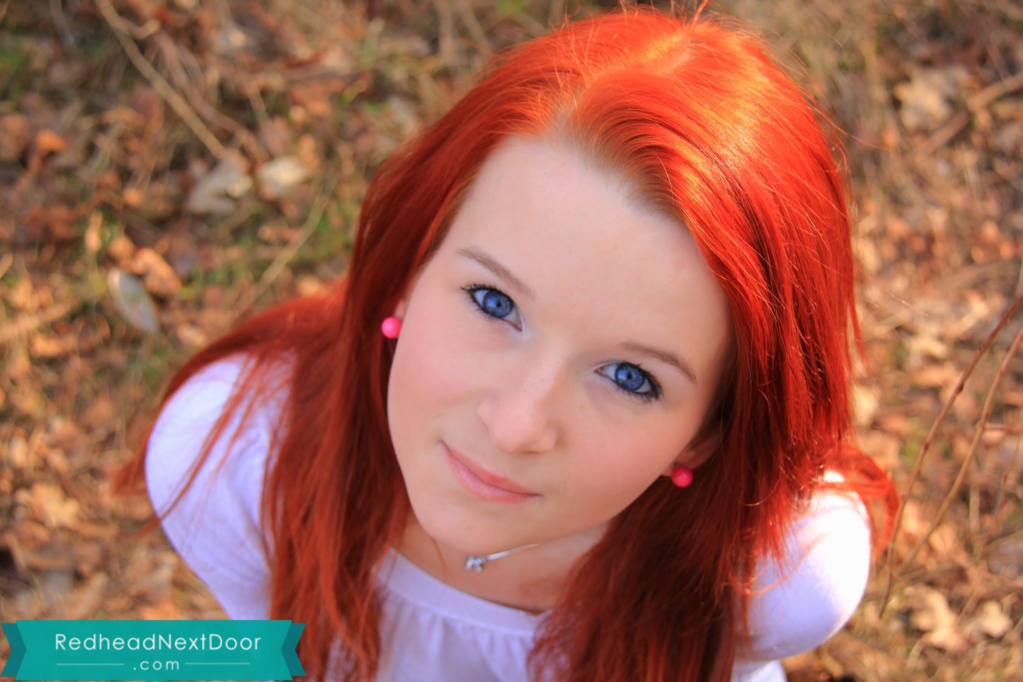 Hiding those beautiful eyes! - Redhead Next Door Photo Gallery